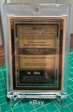 2020 Musée Collection Christian Topps Yelich 1/1 Bois Auto Frame