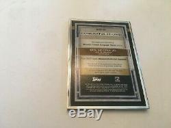 2020 Musée Collection Ken Topps Griffey Jr. Framed Autograph Patch 1/1 Sur La Carte