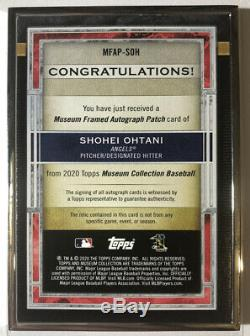 2020 Musée Collection Shohei Topps Ohtani Framed Patch Auto 1/1