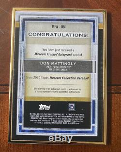 2020 Musée D'or Don Mattingly Topps Or Encre Auto Framed / 10 Ssp Yankees