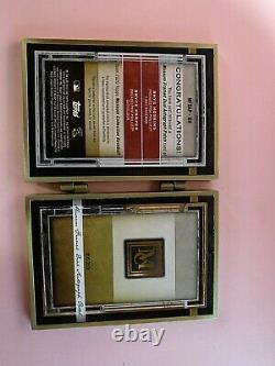 2020 Musée Harper Et Topps Hoskins Double Patch Or Livret 1/1 Framed Auto Rare