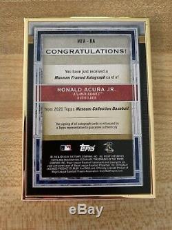2020 Musée Ronald Acuna Jr Topps. Gold Cadre Sur La Carte Gold Auto 9/10 Braves Ssp