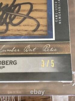 2020 Musée Ryne Sandberg Auto Topps Jumbo Lumber Bat Relic 3/5 Noire Encadrée Hof