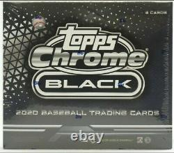 2020 Topps Chrome Black Baseball Usine Scellée Hobby Box -nouveau