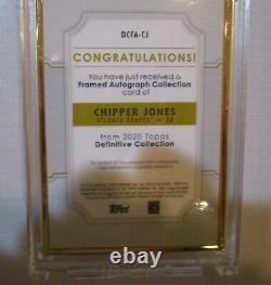 2020 Topps Définitif Chipper Jones Gold Frame On Card Auto 1/10 Ssp Braves 1/10