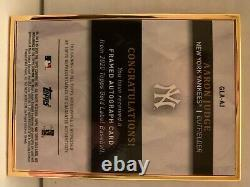 2020 Topps Gold Label Aaron Judge Auto Encadré Sur Carton Autograph Red 1/5 Yankees