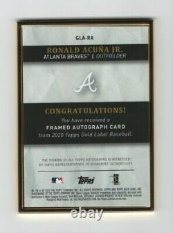 2020 Topps Gold Label Gold Framed Auto Ronald Acuna Jr /75 Braves Autographe