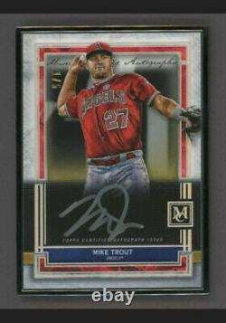 2020 Topps Museum Collection Encadré Mike Trout Silver Ink Auto 1/5 Anges