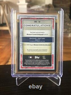 2020 Topps Museum Collection Shohei Ohtani Gold Framed Autograph 3/10 Case Hit