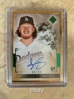 2020 Topps Transcendant Dustin May Gold-framed On-card Auto #1/15 Very Rare
