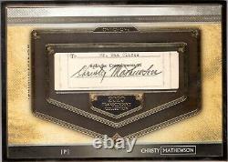 2020 Topps Transcendent Christy Mathewson 1/1 Extérieur Signature De Coupe Autographique