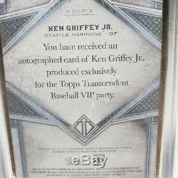 2020 Transcendant Ken Griffey Topps Jr Autograph Auto / 25 Gold Frame