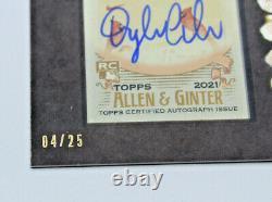 2021 Allen & Ginter, Allen Et Ginter Dylan Carlson Mini Cadre Noir Automatique