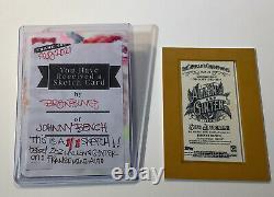 2021 Allen & Ginter Johnny Bench Mini Autographe Encadré Auto + Sketch 1/1! Rouges