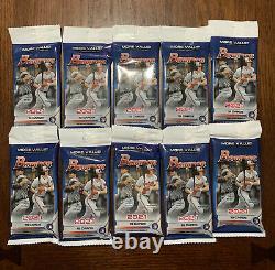 2021 Bowman Baseball Valeur Cello Fat Pack Lot De 10 Usine Scellée