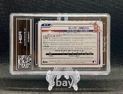 2021 Bowman Blaze Jordan Camo Parallel 1st Bowman Hga 9.5 Custom Gem Mint Pop 1