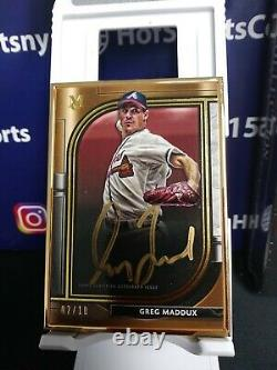 2021 Collection Du Musée Topps Greg Maddux Gold Framed Or Encre Auto /10