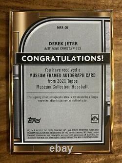 2021 Musée Topps Derek Jeter Encre D'or Encadrée D'or Auto #09/10 Yankees Hof