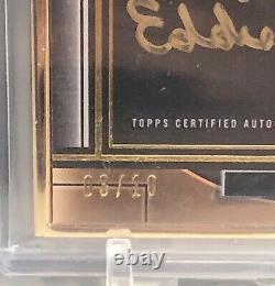 2021 Musée Topps Eddie Murray Cadre D'or Auto 3/10 Autographe Baltimore Orioles