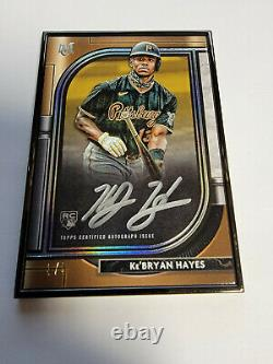 2021 Musée Topps Kebryan Hayes Black Framed Auto Rookie Rc 3/5 Pirates