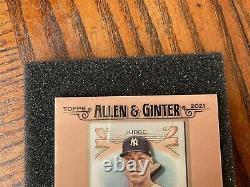 2021 Topps Allen & Ginter Mini Autographe #fma-aj Aaron Juge Yankees