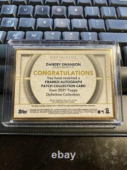 2021 Topps Cadre D'or Définitif Dansby Swanson Auto Relic Braves 1/1 Un D'un