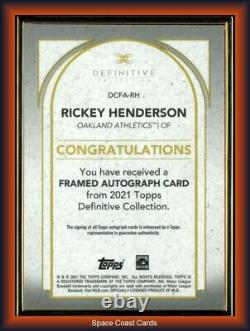 2021 Topps Cadre D'or Définitif Rickey Henderson Auto #d /30 Oakland As