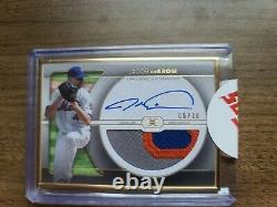 2021 Topps Définitif Jacob Degrom Gold Framed Patch Auto 06/10