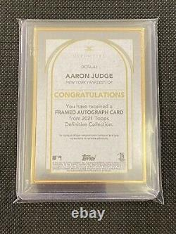 2021 Topps Definitive Gold Frame Auto #dcfa-aj Aaron Juge #09/15 Yankees