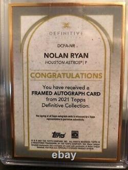 2021 Topps Definitive Nolan Ryan Gold Frame Auto # 03/10 Astros