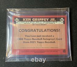 2021 Topps Series 2 Ken Griffey Jr Gold Sur Carte Auto #14/25! Automatique 86as-kg Hof