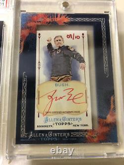 (2) Rare 2011 Allen Ginter George W Bush Framed Mini Auto Cards Psa Gem Mint 10