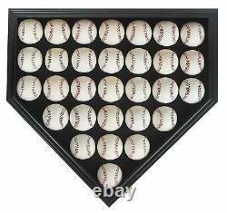 30 Boîte D'affichage De Baseball Boîte D'ombre, Porte De Protection Uv