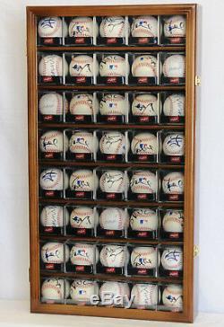 40 Acrylique Cubes Balle Baseball Mur Cabinet Présentoir Pour 98% Uv Verrouillables