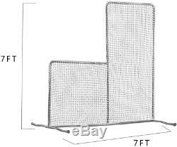 7x7 Baseball Pitching L-écran Net & Pitcher Frame Protector Sécurité Aide À La Formation