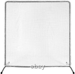 7x7 Baseball Pitching Screen Net & Frame Pitcher Protector Safety Training Must