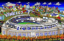 À New York. Yankees Sont Ce Que Les Rêves Sont Faits De! Charles Fazzino Encadré 3d Baseball