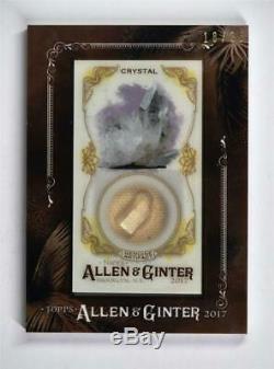 Allen Et 2017 Topps Ginter Encadrée Mini Gems Ancient Fossil Relics Crystal / 25