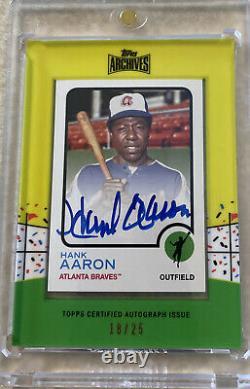 Archives Topps 2013 Hank Aaron Autographe Auto #/25