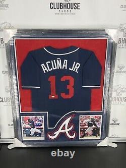 Atlanta Braves Ronald Acuna Jr. Maillot Encadré Autographié Jsa