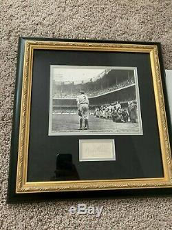 Babe Ruth Autograph Auto Signature Cut Photo Encadrée Yankees Psa Loa Certifié