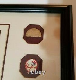 Babe Ruth Jeu Utilisé Piece Bat + 8 X 10 Photo Avec Coa Emmêlée Et Encadrée 16 X 18 Po