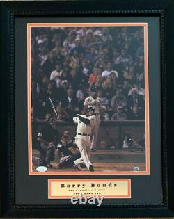 Barry Bonds Autographied Giants 11x14 Cadred Baseball Photo 600 Home Run Jsa