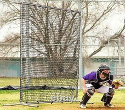 Baseball Écran De Sécurité Filet Battage Piégeant 8' Carré En Acier Cadre