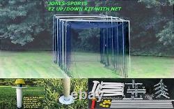 Batting Cage Net #24-42ply Avec Batting Cage Frame Kit Baseball Practice Netting