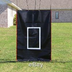 Cage Batting Net 10' X 12' X 30' # 24-42ply Avec Porte Et Cadre Baseball Softball