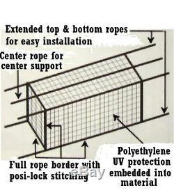 Cage Batting Net 10' X 12' X 40' # 24 (42ply) Avec Porte Et Cadre Baseball Softball
