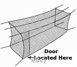 Cage Batting Net 10' X 12' X 50' # 24 42ply Avec Porte Et Cadre De Base-ball Netting