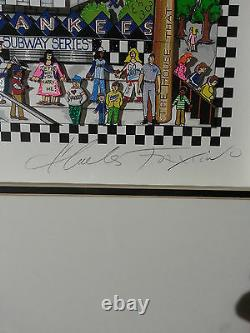 Charles Fazzino 3d Serigraph Finally A Subway Series #34/50 Signed Artist Proof