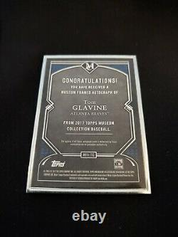 Collection Topps Museum 2017 Tom Glavine Silver Frame Autograph Auto /15